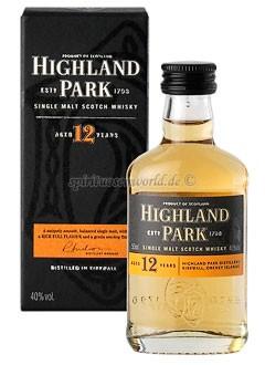 Highland Park 12 Years Whisky Mini 0,05 L