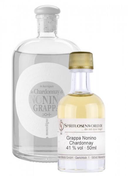 Nonino Chardonnay Grappa Tastingminiatur 0,05 L