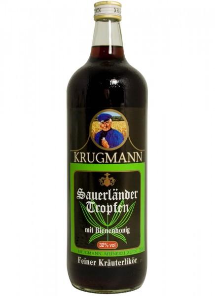 Krugmann Sauerländer Tropfen Kräuterlikör 1 L