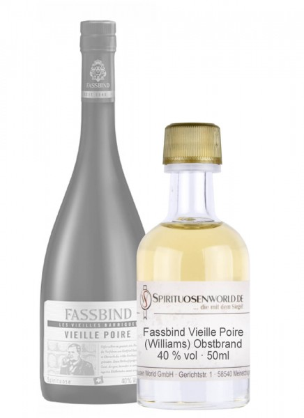 Fassbind Vieille Poire Tastingminiatur 0,05 L