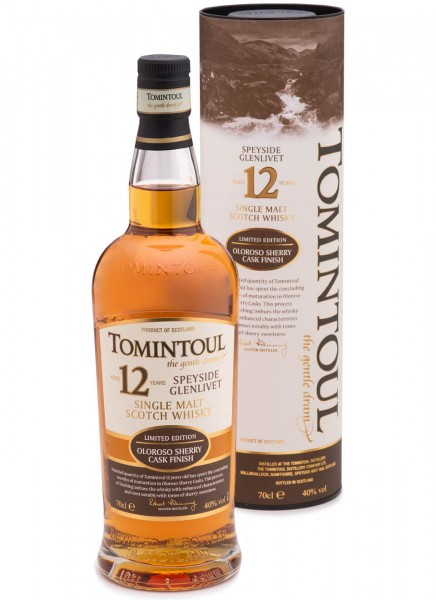 Tomintoul Oloroso-Sherry Single Malt Whisky 12 Jahre 0,7 L