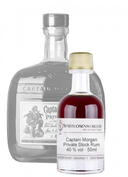Captain Morgan Private Stock Rum Tastingminiatur 0,05 L