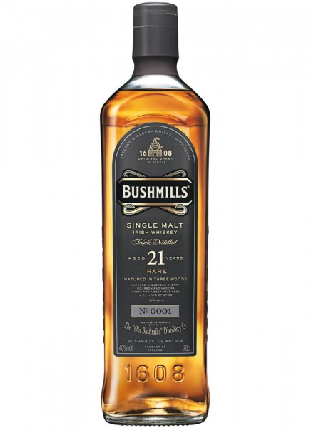 Bushmills Rare 21 Years Irish Whiskey 0,7 L