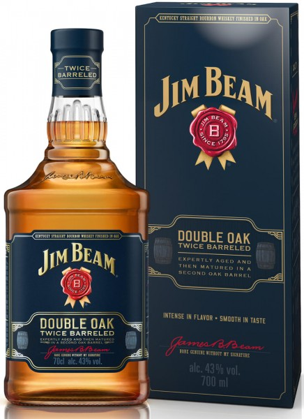 Jim Beam Double Oak Bourbon Whiskey 0,7 L