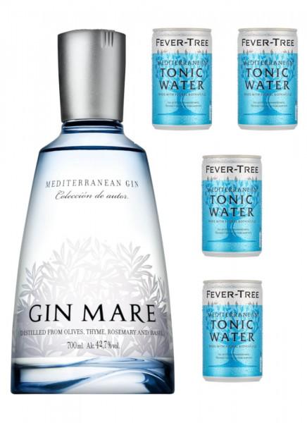 Gin Mare 0,7 L + 4 Fever Tree Mediterranean Tonic 0,15 L