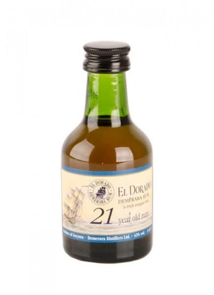 El Dorado 21 Jahre Rum Miniatur 0,05 L