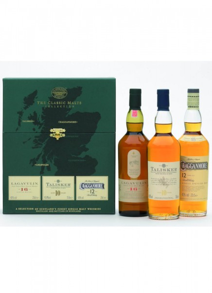 Strong Classic Malts MIX PACK Single Malt Scotch Whisky 0,6 L