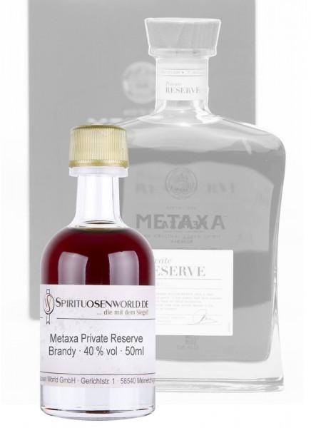 Metaxa Private Reserve Brandy Tastingminiatur 0,05 L