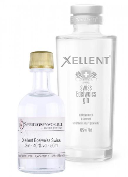 Xellent Edelweiss Swiss Gin Tastingminiatur 0,05 L