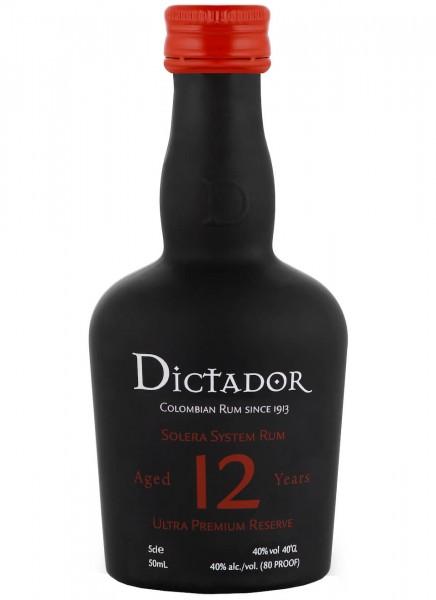 Dictador 12 Years Rum Mini 0,05 L