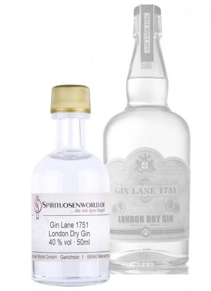 Gin Lane 1751 London Dry Gin Tastingminiatur 0,05 L