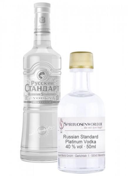 Russian Standard Platinum Vodka Tastingminiatur 0,05 L