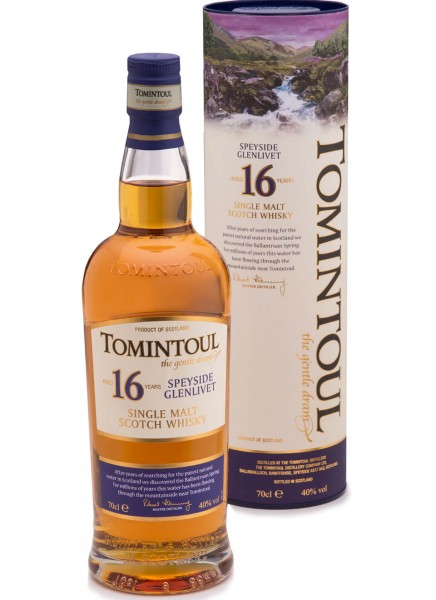 Tomintoul Single Malt Whisky 16 Jahre 0,7 L