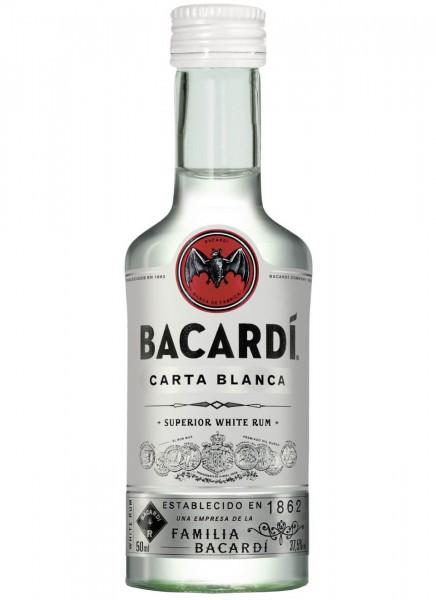 Bacardi Carta Blanca Rum Miniatur 0,05 L