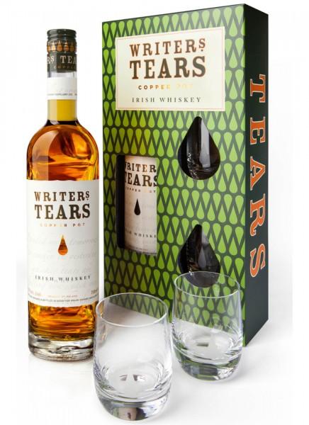 Writers Tears Irish Whiskey Set mit 2 Gläser 0,7 L