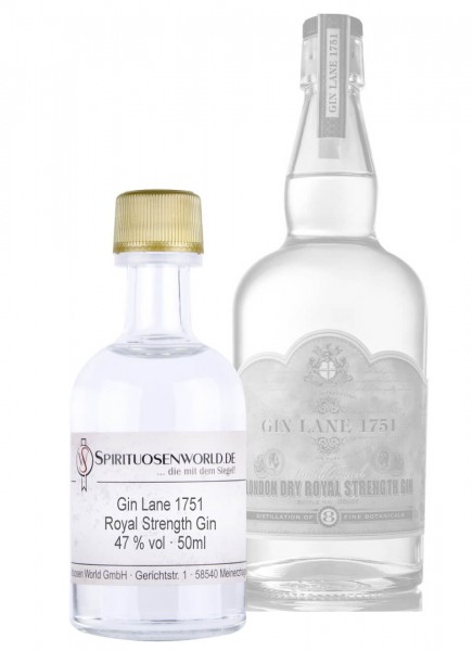 Gin Lane 1751 Royal Strength Gin Tastingminiatur 0,05 L