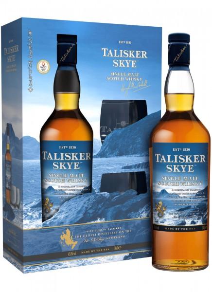 Talisker Skye Whisky Geschenkpackung mit 2 Gläsern 0,7 L
