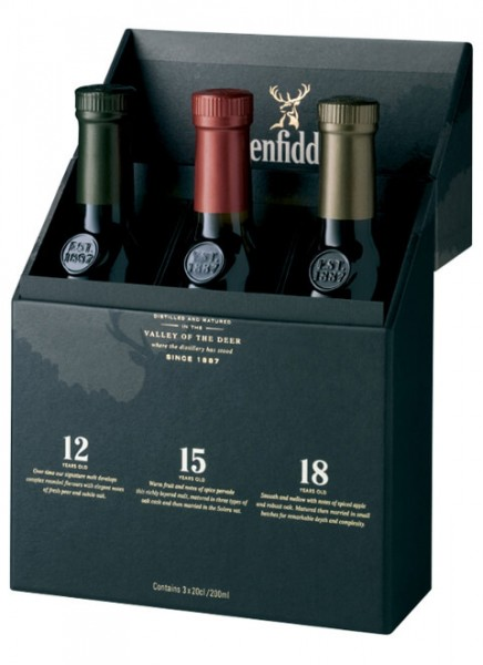 Glenfiddich MIX PACK Single Malt Scotch Whisky 0,6 L