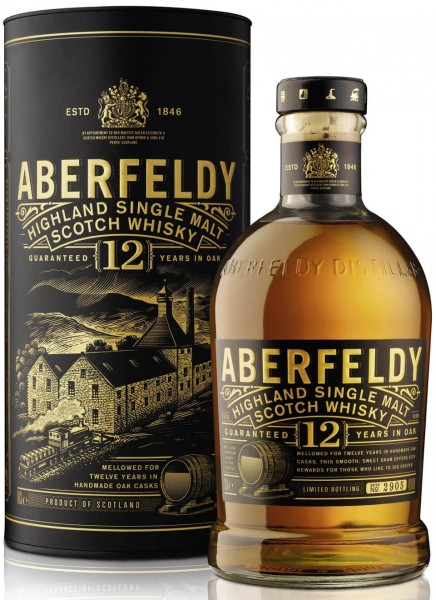 Aberfeldy 12 Years Highland Single Malt Scotch Whisky 0,7 L