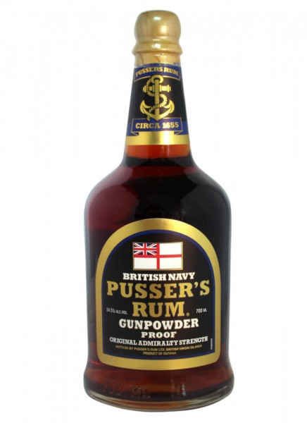 Pussers Gunpowder Proof Black Label Rum 0,7 L